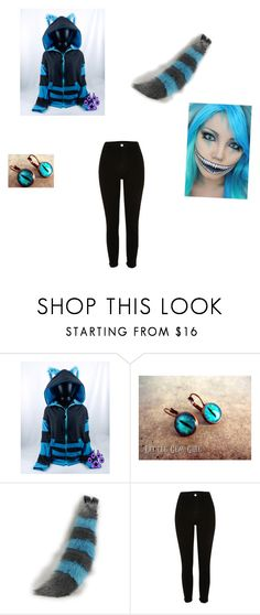 """(Blue) Cheshire Cat"" by dark-wolf98 ❤ liked on Polyvore"