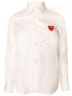 CDG PLAY Ladies Classic Shirt White