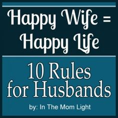 Hilarious rules women wish their husbands lived by. Also a FREE printable image