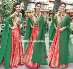 Shilpa Shetty in Payal Khandwala skirt and gold shirt for Super Dancer tv show