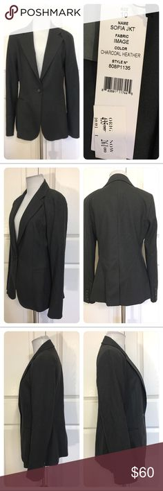NWT!  Premise charcoal heather gray Sofia jacket New with tags!  Classic charcoal heather gray Sofia Jacket.  Lined. Spandex for fit and comfort. Premise Jackets & Coats Blazers