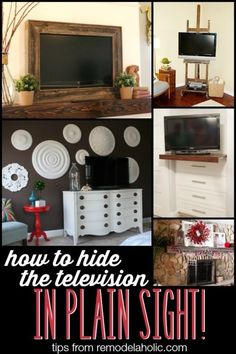 Ideas for decorating around the TV #spon