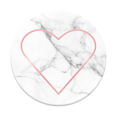 "Popsockets ""Stony Heart"" design in the Good Vibes collection (rose gold on marble)"