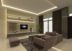 Bed Head, Carpentry, Console, Kitchen Cabinets, Lounge, Ceiling, Living Room, Tv, Space