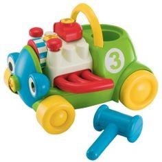 Cette locomotive doit être réparée par les mains d'enfant grâce à un tournevis motorisé et un marteau. L'enfant insère le tournevis à la place du nez de la locomotive pour faire tourner les yeux, il tape avec le marteau sur un piston pour faire remonter l'autre, il exerce différentes manipulations qui vont entraîner des mouvements amusants. Une fois la locomotive réparée, le tournevis mécanicien peut remonter dedans et l'enfant la faire rouler.
