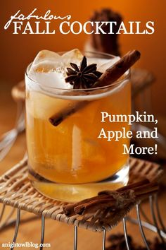 Check out these 25 Fabulous Fall Cocktails that you must try this season! Including pumpkin, apple and more!