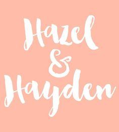 Hazel & Hayden - Baby Names That Are Perfect for Twins - Photos