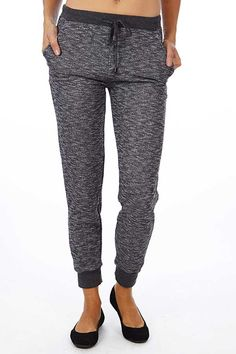 Stay in Comfort with our Black Heather French Terry Joggers - Fashion Outlet NYC  #TGIF #Women