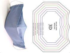 Kurti Patterns, Dress Patterns, Sewing Patterns, Pattern Dress, Easy Face Masks, Diy Face Mask, Mascara 3d, Origami Patterns, 3d Face