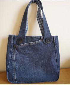 Denim bag DIY recycle jeans
