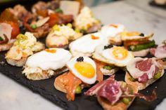 Pintxos at Ibérica La Terraza Al Fresco Dining, Tapas, Sushi, Breakfast, Liverpool, Ethnic Recipes, Food, Morning Coffee, Essen