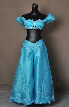 Vestido de princesa de Aladino jazmín adulto Cosplay traje