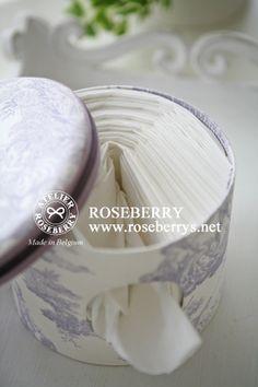 AGENDA ROSEBERRY: Travaux de cartonnage  Boite ronde de mouchoir