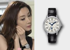 """Choi Ji-Woo 최지우 in """"Temptation"""" Episode 9.  Jaeger-Le Coultre Rendez-Vous Night & Day Watch #Kdrama #Temptation 유혹 #ChoiJiWoo"""