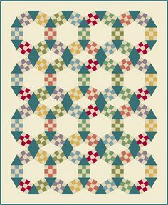 The Jack's Chain quilt is a classic beloved by all. And now construction is easier than ever. The Jack's Chain Improved quilt has the same classic look but without the Y-seams. This pattern is easy enough for the confident beginner with experience sewing simple Nine-patch blocks and triangles. Pattern includes instructions for making the quilt from either 4½″ or 6″ finished Nine-patches. Finished quilt sizes: - 60 x 74 for the 4½″ nine-patch quilt -or- - 62 x 74 for the 6 nine-patch quilt…