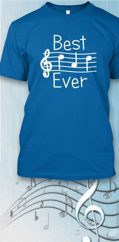 Music-reading Dads will understand...tell him he's The Best!  New limited edition t-shirts available for just a short time. Click image to purchase.