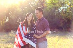 USAFGF. Military couples photography. Air Force Girlfriend. Rylee Blanton Photography. American Flag.