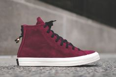 "Converse Chuck Taylor All Star Hi Zip Burnished Suede ""Oxblood"" - EU Kicks: Sneaker Magazine"