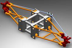 Mechanisms on Matlab and Lean steering for a recumbent trike CAD. - Daniel Jiménez.