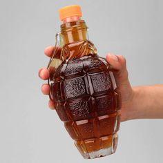 Grenade Shaped Liquor Bottles