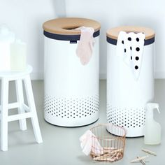 Beautiful Bathroom Bins a pink! :) 50l brabantia touch bin #loveisintheair via @yvestown