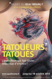 """Affiche de l'exposition """"Tatoueurs, tatoués"""" (2015) - Cliquer pour agrandir, ouverture dans une nouvelle fenêtre"""