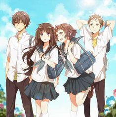 Oreki, Chitanda, Ibara, and Satoshi     ~Hyouka