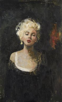 Marilyn Monroe, Oil mixed with wax, on canvas, 147x90cm