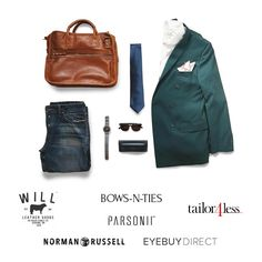 Enter to win this curated look styled by Australian menswear influencer The Filtered Fit for Bows-N-Ties in Will Leather Goods, Tailor4Less, Norman Russell, Parsonii, EyeBuy Direct and Bow-N-Ties. One winner wins all this on 12/13/2016.
