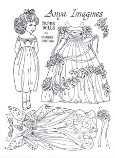 Anya Imagines by Charles Ventura Paper Doll printed these as a birthday present