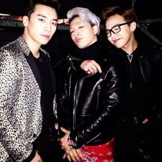 Seungri's Instagram with Taeyang and GD