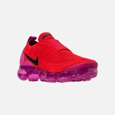 409268653ed5c Three Quarter view of Women s Nike Air VaporMax Flyknit MOC 2 Running Shoes  in University Red