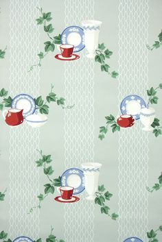 1940s vintage wallpaper for the kitchen