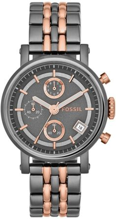Fossil Dress Chronograph Three-Hand Stainless Steel - Two-Tone Women's watch #ES3386