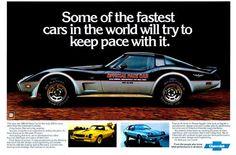 1978 Corvette Pace Car ad #corvette #c3