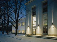 Vaasa City Library, Vaasa, Finland - Lahdelma & Mahlamäki Architects Multipurpose Hall, City Library, Public Service, Helsinki, Finland, Architects, Mansions, House Styles, Building