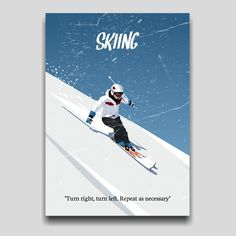 Skiing poster artwork design by Cocographic  Available now at displate Ski Posters, Movie Posters, Artwork Design, Skiing, Poster Prints, Loft, Snow, Ski, Lofts