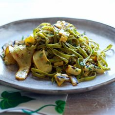 #ChefCookbook #LUNCH: #Spinach #Fettuccine with Tangy #Grilled #Summer Squash TOTAL TIME: 105 MIN (+marination) SERVINGS: 4  At her restaurant, Amanda Cohen tosses #herb fettuccine with pickled squash blossoms and #grilled #zucchini. This simplified recipe features squash that's pickled and then grilled, plus freshly sautéed squash.  Get #recipe here http://goo.gl/KCzZ1z