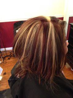 Red brown blonde hair ....RaJe Salon Buchanan,GA EmilySchreiber