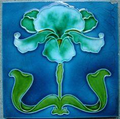 Art Nouveau Tiles - Victorian Majolica... http://www.majolica.com.au/files/1998541/uploaded/T245a.JPG