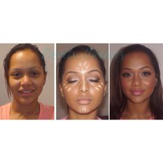 Before and after  Pretty makeup