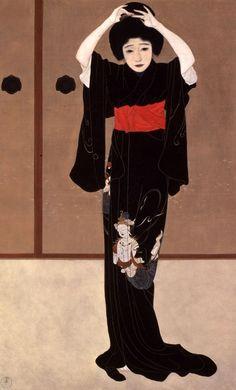 Kagami-no-mae, 1915, The Museum of Modern Art, Shiga Kitano Tsunetomi ~BD~