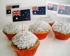 lamington cupcakes for Australia Day-we are making these tonight...It's been almost a year since I've had a lamington