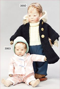 KÄTHE KRUSE, doll No. 1, 42 cm, fabric head, 3 seams at the back of the head…