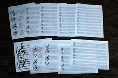 These 10 different free staff paper sheets are great to have on hand for student activities. - Perfect for beginners to advanced music students. #piano #teach #music