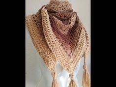 Bufanda tipo Pashmina a Crochet (ganchillo) - YouTube