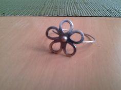 Sterling Flower Ring by NikkiMac on Etsy, $20.00