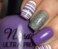 Purple and Gray Nails