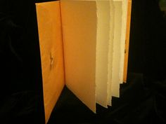 Instant Journal: pamphlet stitched 16-page journal made from a 6x9 envelope and 4 pieces of watercolor paper