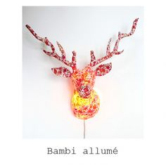 Deer light...can't decide if I like it or if it's a little freaky but I can't seem to look away